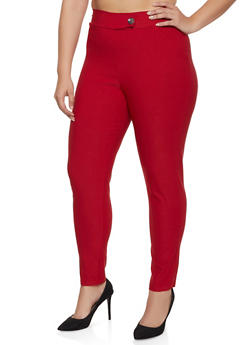 Plus Size Tabbed Stretch Dress Pants - 8441020623318