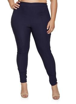 Plus Size Pintuck Dress Pants - 8441020625032