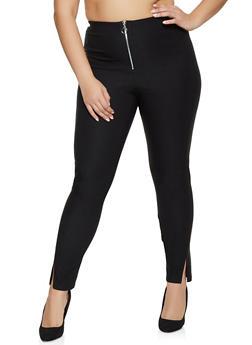 Plus Size Zip Front Dress Pants - 8441020625054