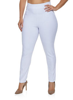 Plus Size Skinny Pull On Dress Pants - 8441020625309