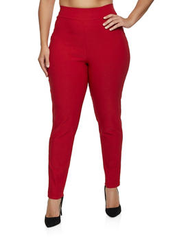 Plus Size Skinny Pull On Dress Pants - 8441020625309