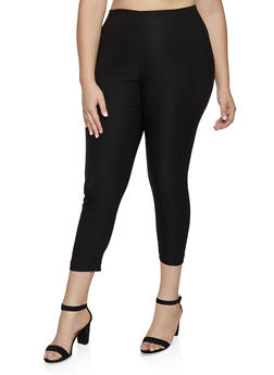 Plus Size Pull On Skinny Dress Pants - 8441020626183
