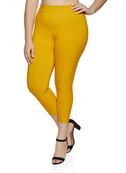 Plus Size Pull On Skinny Dress Pants - 8441020626183