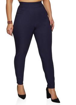 Plus Size Solid Stretch Dress Pants - 8441020626309