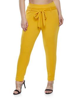 Plus Size Tie Front Dress Pants | 8441020626340 - 8441020626340