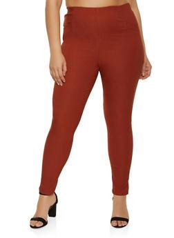 Plus Size Stretch Skinny Pants - 8441020626508