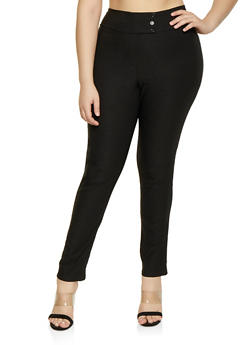 Plus Size Stretch Dress Pants