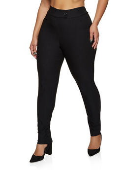 Plus Size Tabbed Waist Dress Pants - 8441020627633