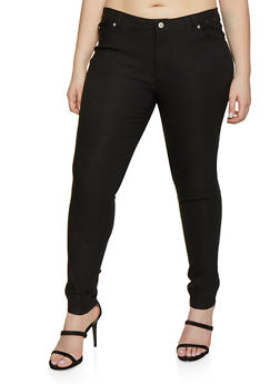 Plus Size Stretch Skinny Jeggings - 8441062707196