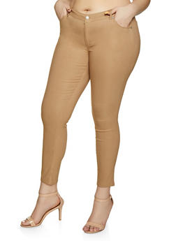 Plus Size Stretch Skinny Jeggings - 8441062707196