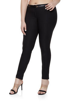 Plus Size Belted Dress Pants | 8441062707240 - 8441062707240