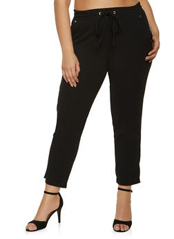 Plus Size Crepe Knit Pants - 8441062707529