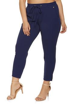 Plus Size Crepe Knit Pants - 8441062707529