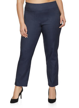 Plus Size Straight Leg Stretch Dress Pants - 8441062707601