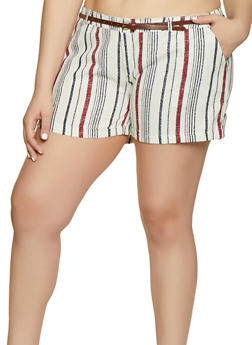 Plus Size Womens Linen Shorts