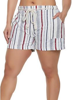 Linen Plus Size Shorts