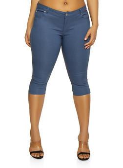 Plus Size Capri Jeggings - 8442062707195