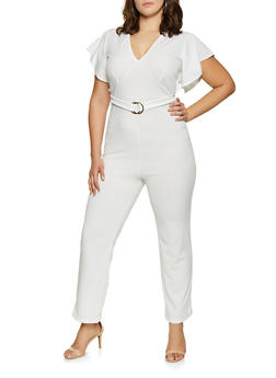 White Plus Size Jumpsuits And Rompers Rainbow