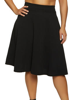 Plus Size Crepe Skater Skirt - 8444020620060