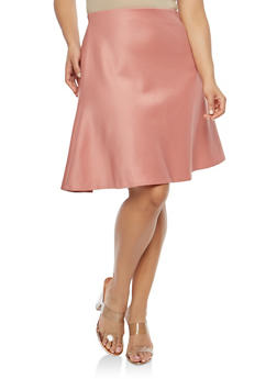 Plus Size Skater Skirt - 8444020621415