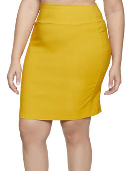 Plus Size Stretch Pencil Skirt | 8444020622526 - 8444020622526
