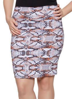 Plus Size Animal Print Pencil Skirt - 8444020622529