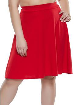 Plus Size High Low Skater Skirt - 8444020624461