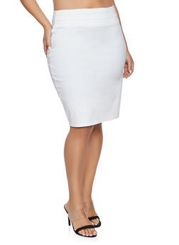 Plus Size Triple Seam Pencil Skirt - 8444020626445