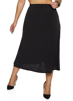 Plus Size Skater Skirt - 8444020629127