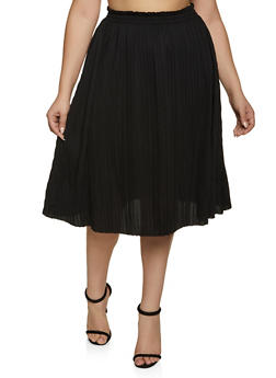 Plus Size Pleated Skirt | 8444062702758 - 8444062702758