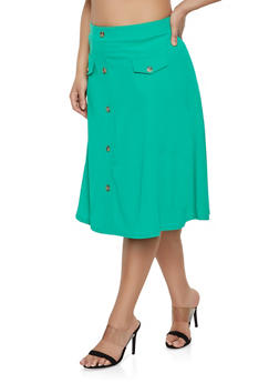 Womens Green Skirts