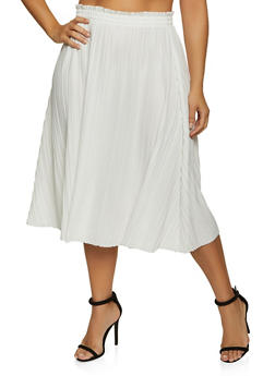 Plus Size Pleated Skirt - 8444062706758