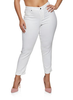 Plus Size Fixed Cuff Stretch Pants - 8448056571115