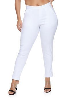 60a834f4a43 Plus Size Pull On Dress Pants - 8448056576122