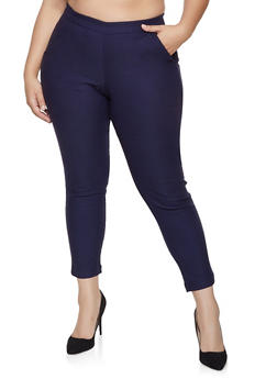 Plus Size Pull On Dress Pants - 8448056576122