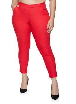 Plus Size Pull On Dress Pants - 8448056576122