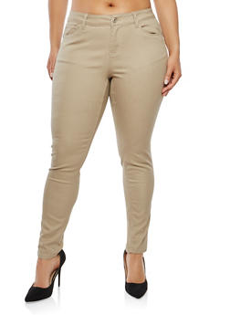 Plus Size Skinny Pants - 8448071613100