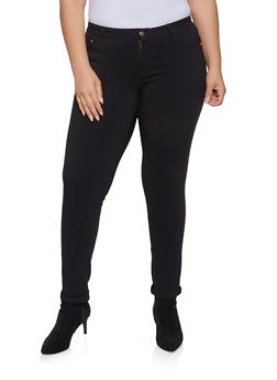 Plus Size Cuffed Push Up Jeans - 8448074631714