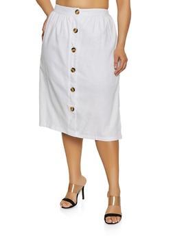 Womens Plus Size White Skirt