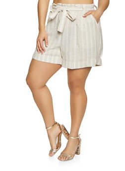 Plus Size Linen Shorts for Women