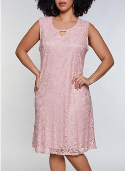 Plus Size Lace Dress - 8475062701009