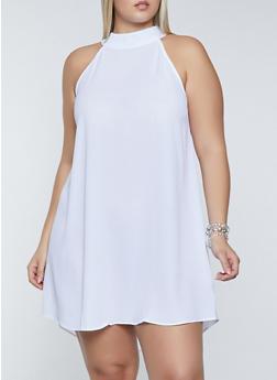 Plus Size Crepe Knit Shift Dress - 8475062702787