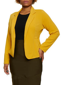 Plus Size Textured Knit Blazer | 9423062700017 - 9423062700017