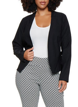 Plus Size Stretch Blazer - 9423068513708