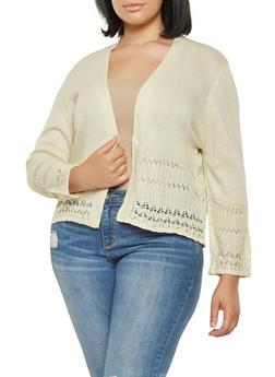 Plus Size Knit Cardigan - 9424074051667