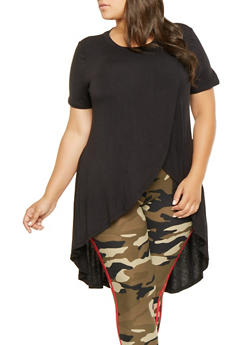 Plus Size High Low Tee - 9428020626352