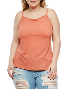 Plus Size Solid Cami - 9428020627425