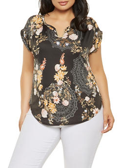 Plus Size Printed Top - 9429020626244