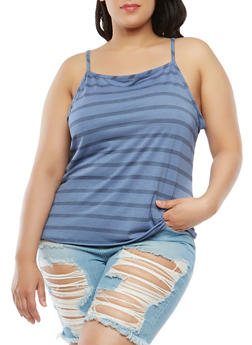 Plus Size Striped Cami - 9429020627425