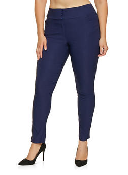 Plus Size Pull On Stretch Pants - 9441020620046